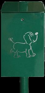 CORBEILLE METALLIQUE 20L pour collecte des déjections canines