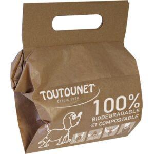 Sacs à crottes de chien en papier et pelles carton intégrées