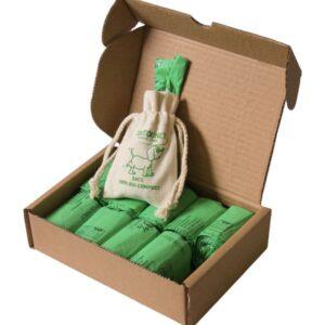 Boite de 250 sacs à déjections canines TOUTOUNET BIO-Compost avec distributeur offert