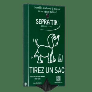 distributeur de sacs à déjections canines SEPRATIK